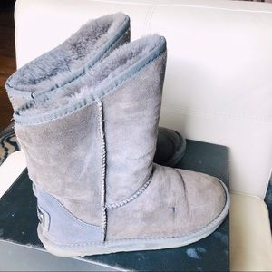 Australia Luxe Sheepskin Suede Winter Boots Grey 8